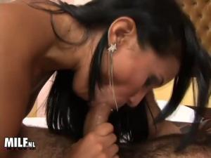 Thick pole in her tight latina ass